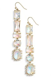 Kate Spade Women's New York Color Crush Linear Drop Earrings Crystal Abalone