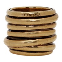 Balenciaga Gold Multirings Ring