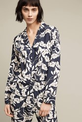 Eloise Elderflower Pyjama Shirt Navy