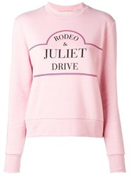 Etre Cecile Rodeo Sweatshirt Pink Purple
