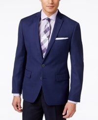 Ryan Seacrest Distinction Men's Solid Navy Slim Fit Blazer Only At Macy's