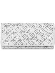 Burberry Perforated Continental Wallet White