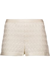 Missoni Crochet Knit Shorts White