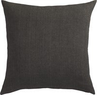 Cb2 Linon Dark Grey 20'' Pillow With Feather Insert