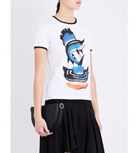 J.W.Anderson Marlin Cotton Jersey T Shirt White