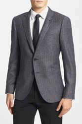 Duckie Brown Gentlemen Gentlemen Trim Fit Tweed Wool Sport Coat