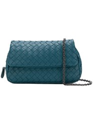 Bottega Veneta Mini Messenger Bag Blue