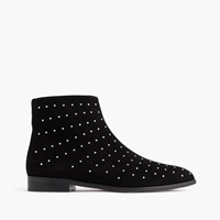 J.Crew Studded Suede Ankle Boots Black