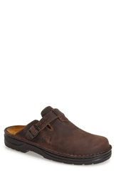 Naot Footwear 'Fiord' Clog Men Brown Leather