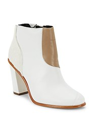 Tibi Naomi Suede And Calf Hair Booties White