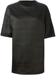 Carmen Secareanu Textured Boxy Top Black