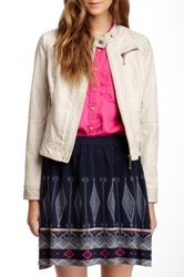 Lavand Faux Leather Jacket Pink
