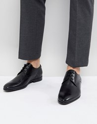 Zign Leather Formal Lace Up Shoes In Black