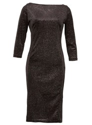 Dorothy Perkins Feverfish Black Glitter Bodycon Dress