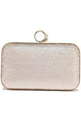 Halston Heritage Woman Sequined Leather Clutch Blush