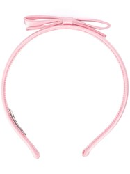 Miu Miu Bow Hairband Pink