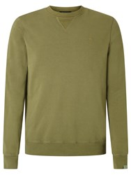 Scotch And Soda Garment Dyed Sweatshirt Military