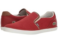 Lacoste Jouer Slip 318 1 Red Tan Shoes