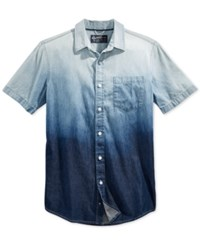 American Rag Men's Calabrese Cotton Ombre Shirt Only At Macy's Blue