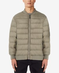 32 Degrees Men's Packable Bomber Jacket Sandstone Melange
