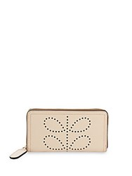 Orla Kiely Textured Leather Wallet Natural