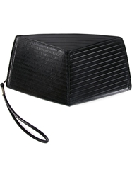 Julius Geometric Zipped Clutch Black