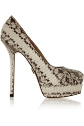 Michael Kors Susana Snake Platform Pumps Animal Print
