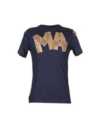 Malph Short Sleeve T Shirts Dark Blue