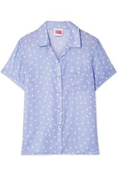 Solid And Striped Polka Dot Voile Shirt Lavender
