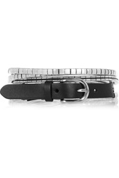 Isabel Marant Leather And Silver Tone Multi Strand Belt Metallic