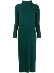 Allude Knitted Midi Dress Green