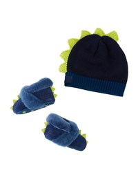 Ugg Dydo Dino Suede Booties And Knit Wool Beanie Baby Blue