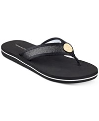 Tommy Hilfiger Clove Flip Flop Sandals Women's Shoes Black