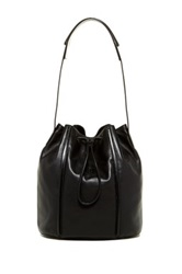 Christopher Kon The Edge Leather Bucket Bag Black
