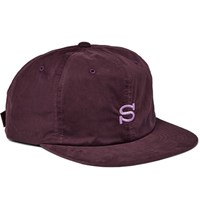 Stussy Embroidered Waxed Cotton Blend Baseball Cap Purple