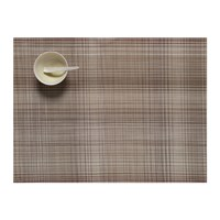 Chilewich Plaid Rectangle Placemat Tan