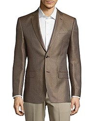 Versace Front Button Silk Sport Coat Dark Brown