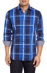 Bugatchi Men's Classic Fit Plaid Sport Shirt