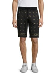 Versace Logo Sweat Shorts Black
