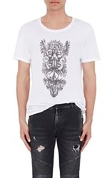 Balmain Men's Graphic T Shirt White