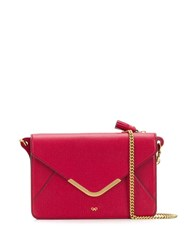 Anya Hindmarch Postbox Wallet On Chain Red