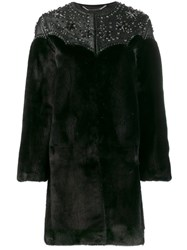 Philipp Plein Cowboy Coat Black