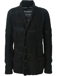 Isabel Benenato Open Knit Cardigan Black