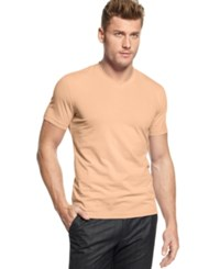 Alfani Red Fitted V Neck T Shirt