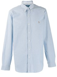 Ralph Lauren Embroidered Logo Shirt Blue