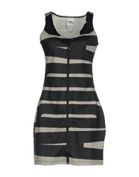Jeremy Scott Short Dresses Steel Grey