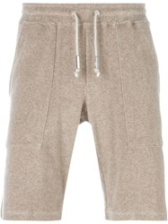 Eleventy Track Shorts Nude And Neutrals