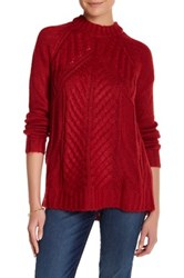 Joe Fresh Cable Knit Sweater Red