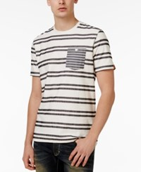 American Rag Men's Elevated Stripe Cotton T Shirt Only At Macy's Bright White