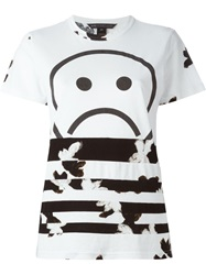Marc By Marc Jacobs Unsmiley Stripes Print T Shirt White